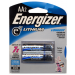 AA Lithium Energizer Battery Pack of 2