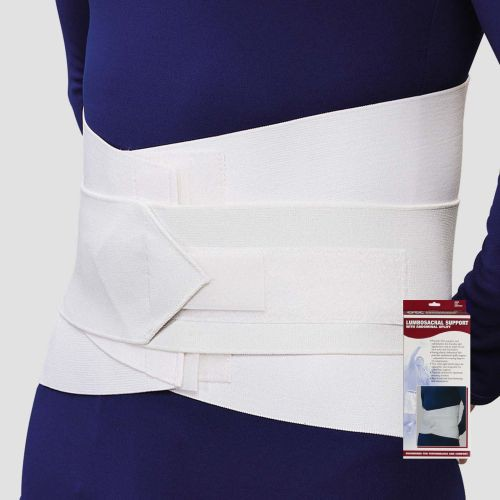 Lumbosacral Support with Abdominal Uplift - White