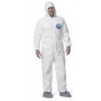 Disposable Zip Closure Coverall Protection Suit