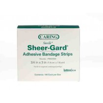 Caring Plastic Adhesive Bandages, Latex Free Sterile