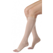 Jobst Relief Unisex Knee High Compression Socks w/ Silicone Top Band OPEN TOE 30-40 mmHg