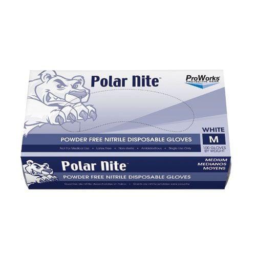 ProWorks White Nitrile Powder Free Gloves