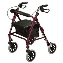 Soft Seat Aluminum Rollator with Straight Backrest