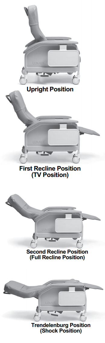 lumex deluxe clinical care recliner by graham field  48a