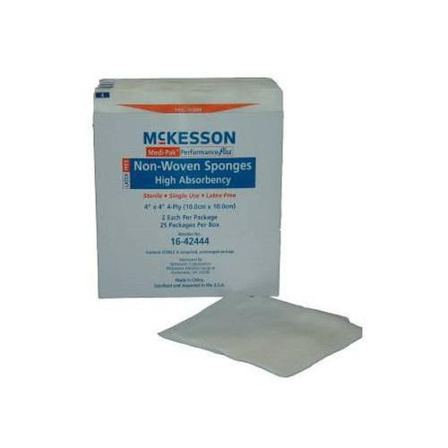 Medi-Pak 4 x 4 Inch Non-Woven Sponges 4 Ply, Sterile - 16-4244