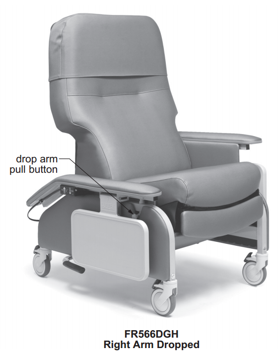 lumex deluxe clinical care recliner by graham field  9e4