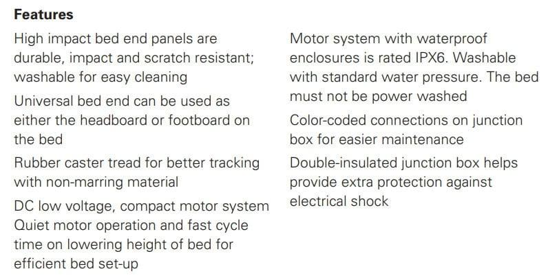 invacare 5310ivc semi electric hospital bed bundle 8bc