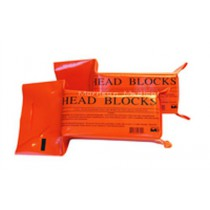 Head Block with Disposable Head and Chin Straps