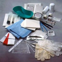 Debridement Kit with Scissors, Scalpel, Forceps and Gloves
