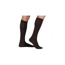 Shape To Fit Black Cotton Casual Socks with Executive Strips 20-30 mmHg