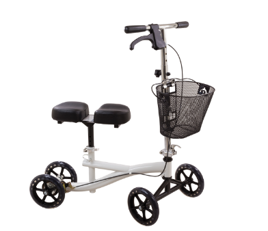 Compass Health Roscoe Knee Scooter, Black, White, Burgundy