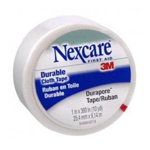 3M Nexcare First Aid Durapore Cloth Tape 538P1 - 1 inch x 10 Yards