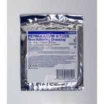USP White Petrolatum Gauze Pleated Dressing 1 x 8 Inch - Sterile