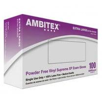 Ambitex Powder Free Vinyl Supreme XP Exam Gloves V221 Series
