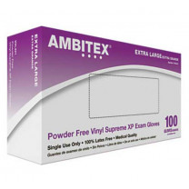 Ambitex Powder Free Vinyl Supreme XP Exam Gloves V221 Series