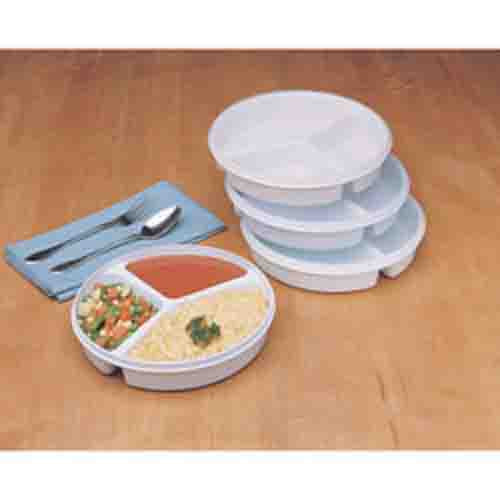 Ableware Partitioned Divider Plate with Lid