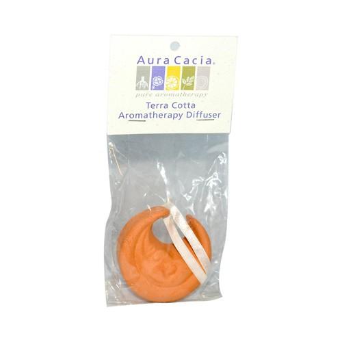 Aura Cacia Terra Cotta Moon Shape Essential Oil Diffuser Aromatherapy