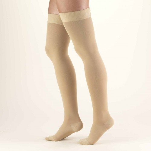 98d85527cfd TRUFORM Classic Medical Thigh High Silicone Dot Top CLOSED TOE 20-30 mmHg