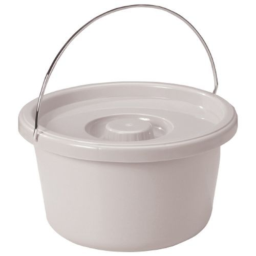 Commode Bucket with Metal Handle and Cover