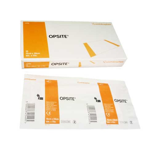 OpSite 11 x 11-3/4 Inch Transparent Film Dressing 4987