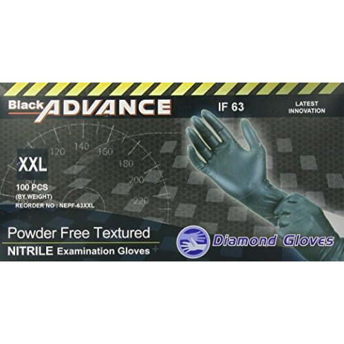 Black Advance IF-63 Nitrile Exam Gloves