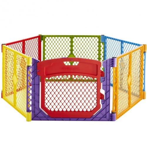 Superyard Colorplay Ultimate Freestanding 6 Panel Playpen