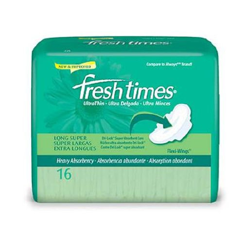 FreshTimes Ultra Thin Maxi Pads with Flexi Wings - Super Absorbency