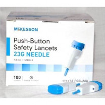 Mckesson Safety Lancets (Push-Button) 17, 23 & 28 Gauge Needles