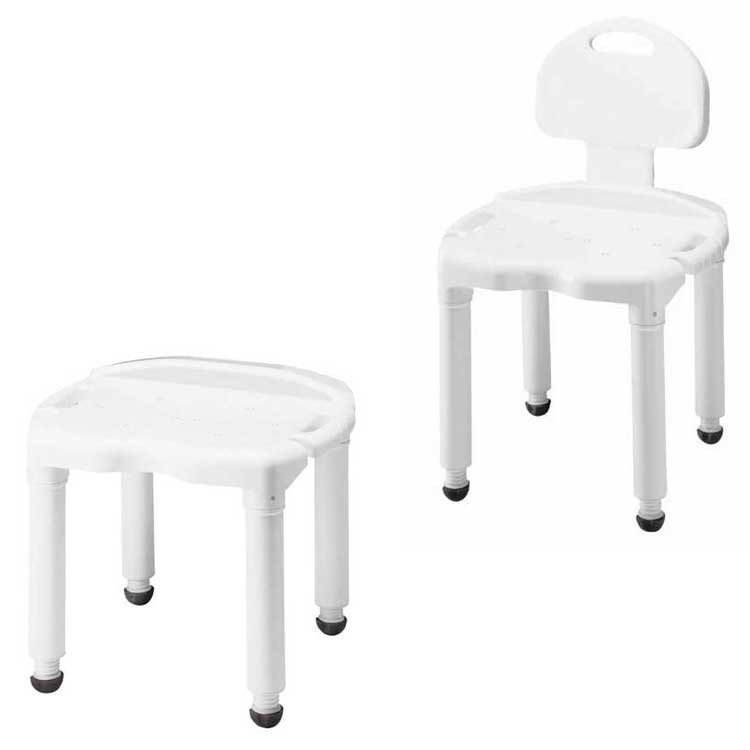 Carex Universal Bath Seat Shower Chair with Adjustable Height - All ...