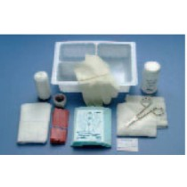 Dressing Change Tray with Saline Solution and Stretch Gauze