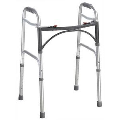 Deluxe Adult Folding 2-Button Walker