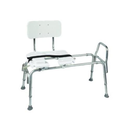 DMI Heavy-Duty Sliding Transfer Bench w/Cut-Out Seat