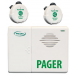 Two Call Buttons and a Wireless Caregiver pager