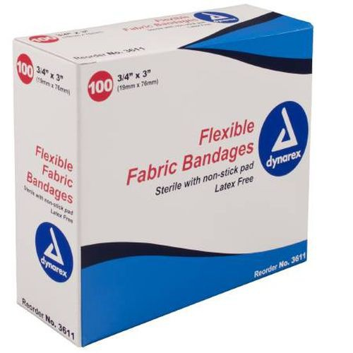 Flexible Fabric Bandages, Sterile