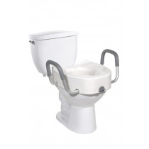 Raised Elongated Toilet Seat with Arms by Drive