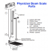 Detecto Stainless Steel Beam Scale Major Parts
