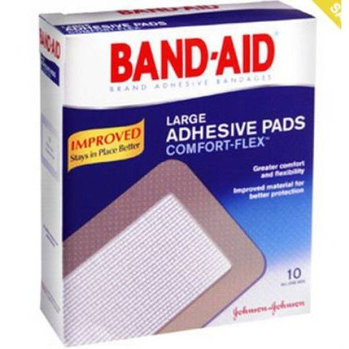 Band-Aid Large Adhesive Pads Comfort-Flex