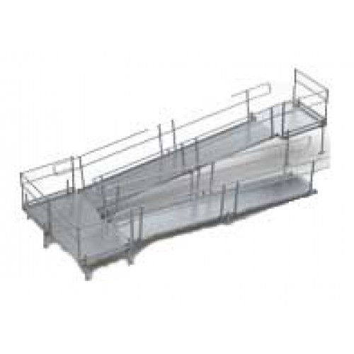 Homecare products ez access modular ramp w handrails for Prefab wheelchair ramp