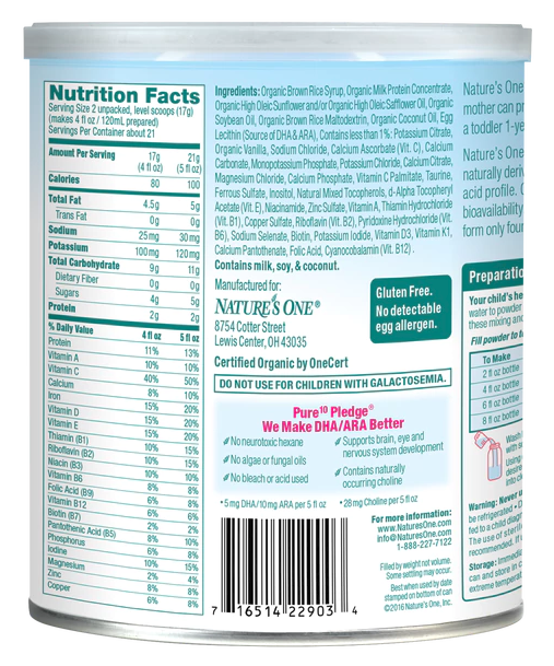 Nature S One Baby S Only Organic Lactorelief Formula 22903m