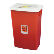 18 Gallon Red SharpSafety Sharps Container with Gasketed Slide Lid 8998S