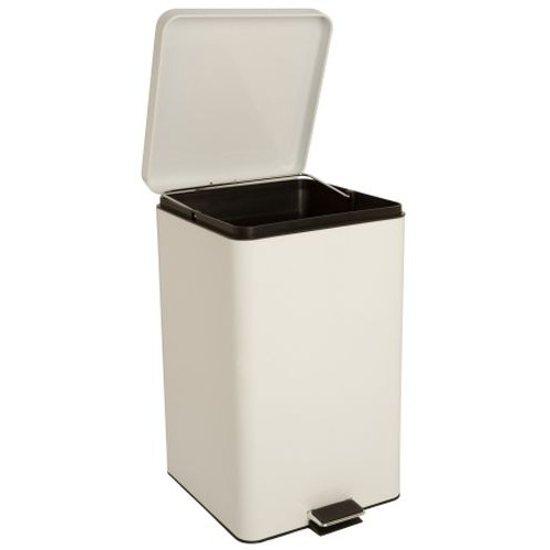 Trash Can with Plastic Liner entrust