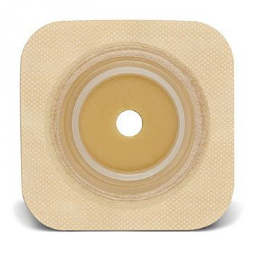 Durahesive Flexible Skin Barrier with Cut-to-Fit Opening and Tan Tape Collar