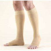 TRUFORM Classic Medical Knee High Silicone Dot Top OPEN TOE 20-30 mmHg