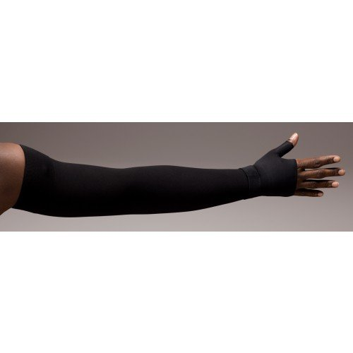LympheDivas Onyx Compression Arm Sleeve 20-30 mmHg w/ Diva Diamond Band