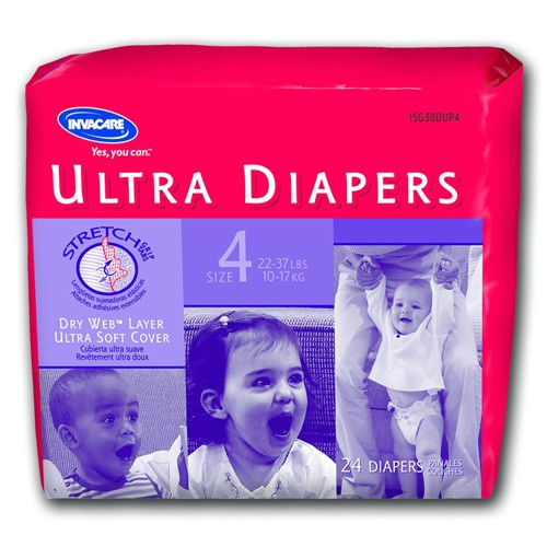 Invacare Supply Group Disposable Ultra Childrens Diaper