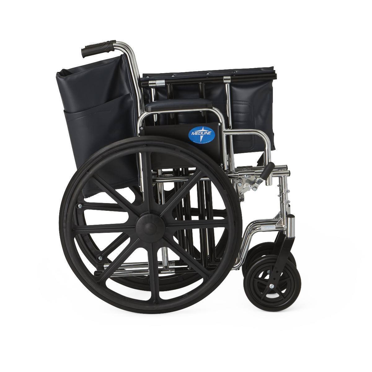 medline extra wide wheelchair f3c
