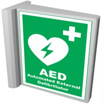 Physio-Control AED Wall Sign With Logo