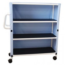 PVC Large Linen Cart with Three Shelves