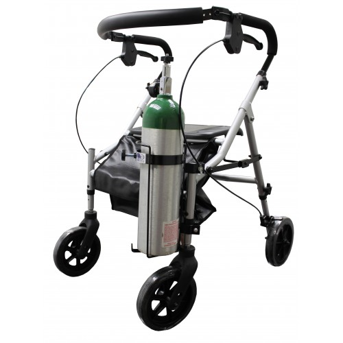 Oxygen Tank Holder for Walkers, Rollators and Wheelchairs