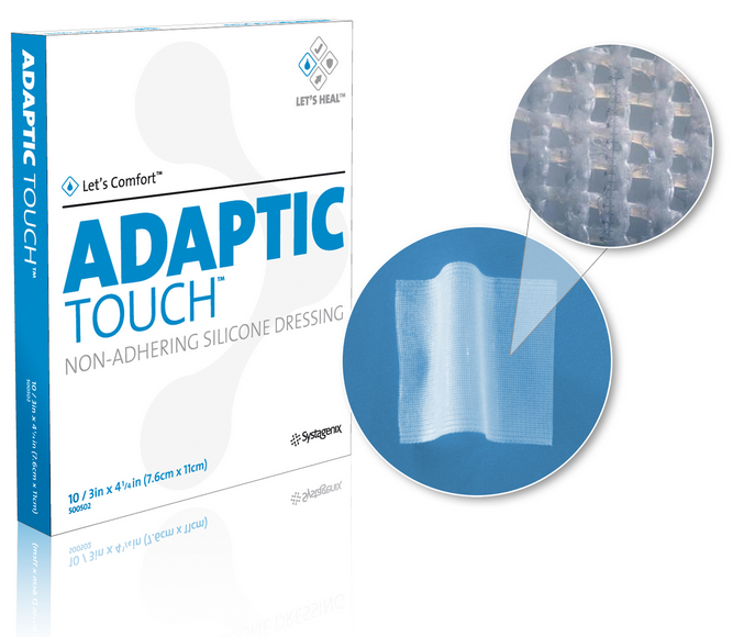Adaptic Touch Silicone 3 X 4 Inch Non Adherent Dressing